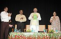 "The Speaker, Lok Sabha, Shri Somnath Chatterjee releasing a book ""Constitution Amendment in India- 2008"", in New Delhi on June 23, 2008.jpg"