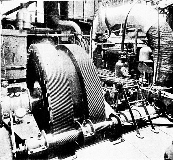 The Steam Turbine, 1911 - Fig 49 - View of the Gearing in 'Vespasian.'.jpg