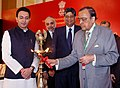 """The Union Minister for Petroleum and Natural Gas, Shri Murli Deora lighting the lamp to inaugurate the """"NELP-IX Promotional Road Show"""", in Mumbai on October 18, 2010.jpg"""