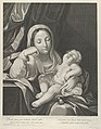 The Virgin seated with her head resting on her right hand, holding the sleeping infant Christ on her lap, after Reni MET DP841785.jpg