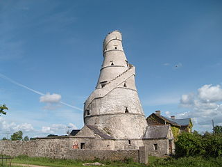Leixlip Town in County Kildare, near Dublin, Ireland