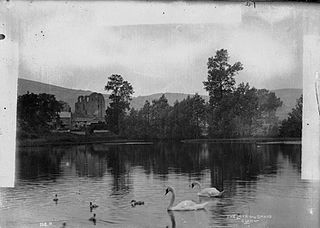 The lake and swans, Clun