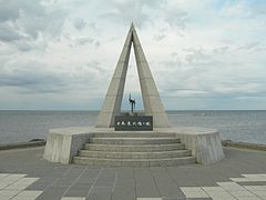 The monument of the Soya cape which is Japanese ultima Thule.jpg