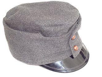 Feldgrau - Austrian service cap in Hechtgrau (pike-grey)