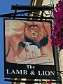 The sign for the Lamb and Lion, Bath - geograph.org.uk - 987958.jpg