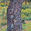 Theodor Gerkens, Birnbaumstamm mit Vegetation 2006-82.jpg