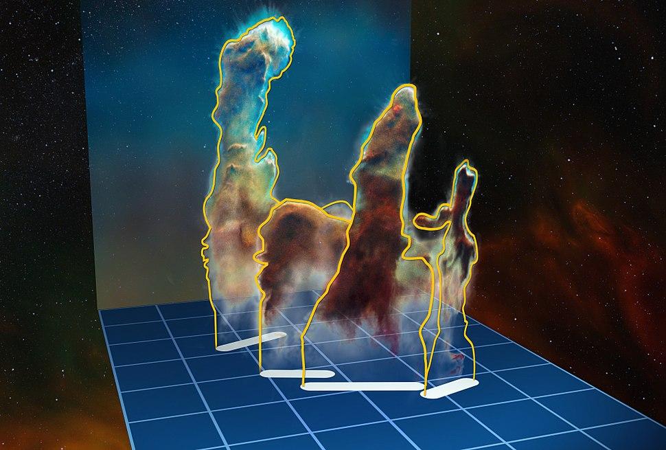 Three-dim-pillars-creation