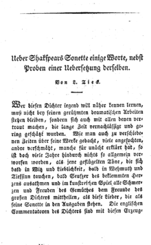 Shakespeares Sonette Wikipedia