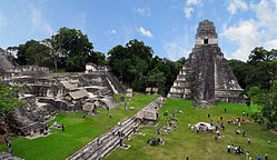 The ancient Mayan Tikal.