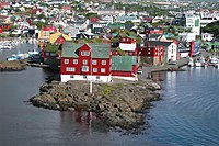 Tinganes in Tórshavn, seat of the government.