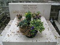 Grób Michela Petruccianiego na cmentarzu Père Lachaise