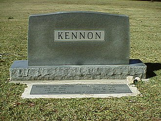 Robert F. Kennon - Tombstone of Governor and Mrs. Robert F. Kennon