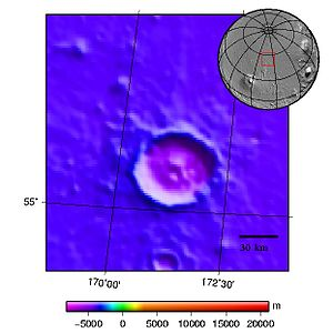 Topography map of crater Stokes on Mars.jpg