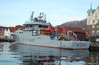 Norwegian Coast Guard - NoCGV Tor dockside in Bergen