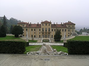 Torino, Villa della regina - retro