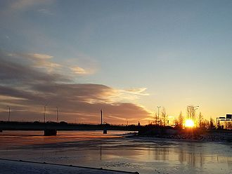 Tornio - Image: Tornion joki winter 2015