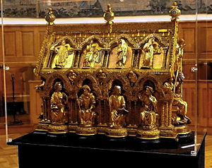 Eleutherius of Tournai - The Reliquary Shrine of Saint Eleutherius, 1247, in the Cathedral of Tournai
