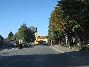 Zlatar, Croatia - Street in Zlatar