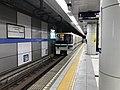 Train for Sannomiya-Hanadokeimae Station leaving from Harborland Station.jpg