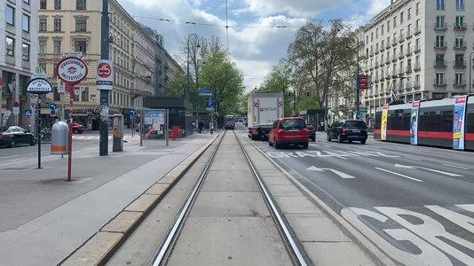 File:Tram 1 timelapse -- Ring, Volkstheater - Paulanergasse.ogv