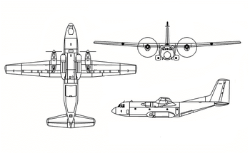 Orthographic projection of a Transall C-160