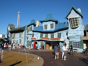 Haunted attraction (simulated) - Trauma Towers at Blackpool Pleasure Beach, Blackpool, England. Originally The Haunted Hotel.