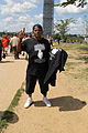 Trayvon Martin supporter selling black t-shirts with Bible verses - 50th Anniversary of the March on Washington for Jobs and Freedom.jpg