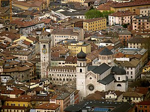Trento-Cathedral of Saint Vigilius from Sardagna.jpg