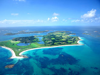 Isles of Scilly - Looking across Tresco, the second-largest island