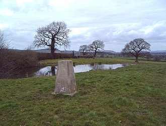 Ridley, Cheshire - Image: Trig. point at Ridley geograph.org.uk 151530