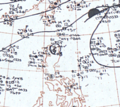 Tropical Storm Lorna October 31, 1966 surface analysis.png