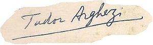 Tudor Arghezi - Image: Tudor Arghezi Autograph