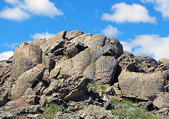 Winnemucca Lake - Petroglyph site 26 Wa 3329, with some of the oldest known petroglyphs in the Americas