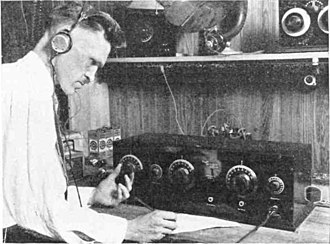 Tuned radio frequency receiver - Tuning a TRF receiver, like this 5 tube Neutrodyne set from 1924 with two stages of RF amplification, was a complicated process. The three tuned circuits, controlled by the 3 large knobs, had to be tuned in unison to the new station. So tuning in a station was a process of successive approximation. Once a station was found, the numbers on the dials were written down, so it could be found again.