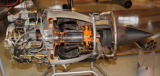 Turbomeca Marboré - Sectioned Marboré II on display at the Finnish Airforce Museum
