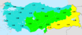 Turkey total fertility rate by statistical region 2014.png