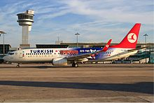c31f4434d2 A Turkish Airlines Boeing 737-800 in 2010 FIBA World Championship livery at Istanbul  Atatürk Airport.
