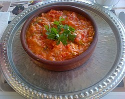 Turkish egg dish Menemen.jpg