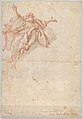 Two Angels Flying; verso- God the Father Seated in the Clouds and a Sketch of a Figure Flying MET DP831800.jpg