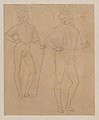 Two Studies of a Standing Youth in Quattrocento Clothing (recto); a cardinal's hat on a fragmentary coat of arms with a griffin (the arms of the city of Perugia) (verso) MET DP-13665-020.jpg