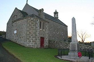 Tyrie, Aberdeenshire - Tyrie parish church and war memorial