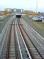 U-Bahnhof Garching-Hochbrück - tunnel leading to U-Bahnhof Garching.JPG