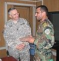 U.S. Army Command Sgt. Maj. William J. Gainey and Afghan Command Sgt. Maj. Roshan Safi.jpg