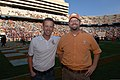 U.S. Army Lt. Col. James DeLapp, left, the commander of the Nashville District of the U.S. Army Corps of Engineers, and Chip Hall, a biologist with the district's planning branch, stand on the field at Neyland 121103-A-EO110-004.jpg