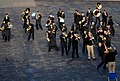 U.S. Navy Lt. David Latour, the band director and conductor during event, leads the U.S. Naval Forces Europe Band as it rehearses one of the songs it will play during the Edinburgh tattoo to be held outside 120730-N-VT117-740.jpg