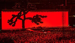 The Joshua Tree - U2 performing in Rome, during a concert tour commemorating the 30th anniversary of The Joshua Tree