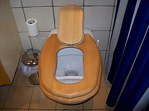 Toilet training - Image: UD flush toilet from Dubbletten (with childrens seat open) (3018505985)