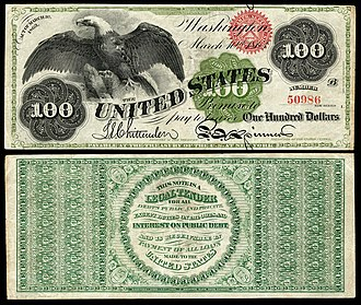 United States one hundred-dollar bill - 1863 $100 Legal Tender note