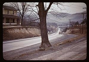 Northwestern Turnpike - Northwestern Turnpike leading west from Romney, 1942