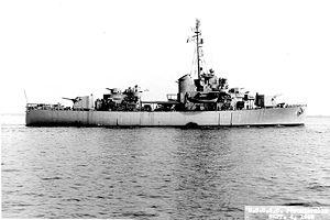USCGC Pontchartrain (WHEC-70) - Image: USCGC Ponchartrain WHEC70 1945